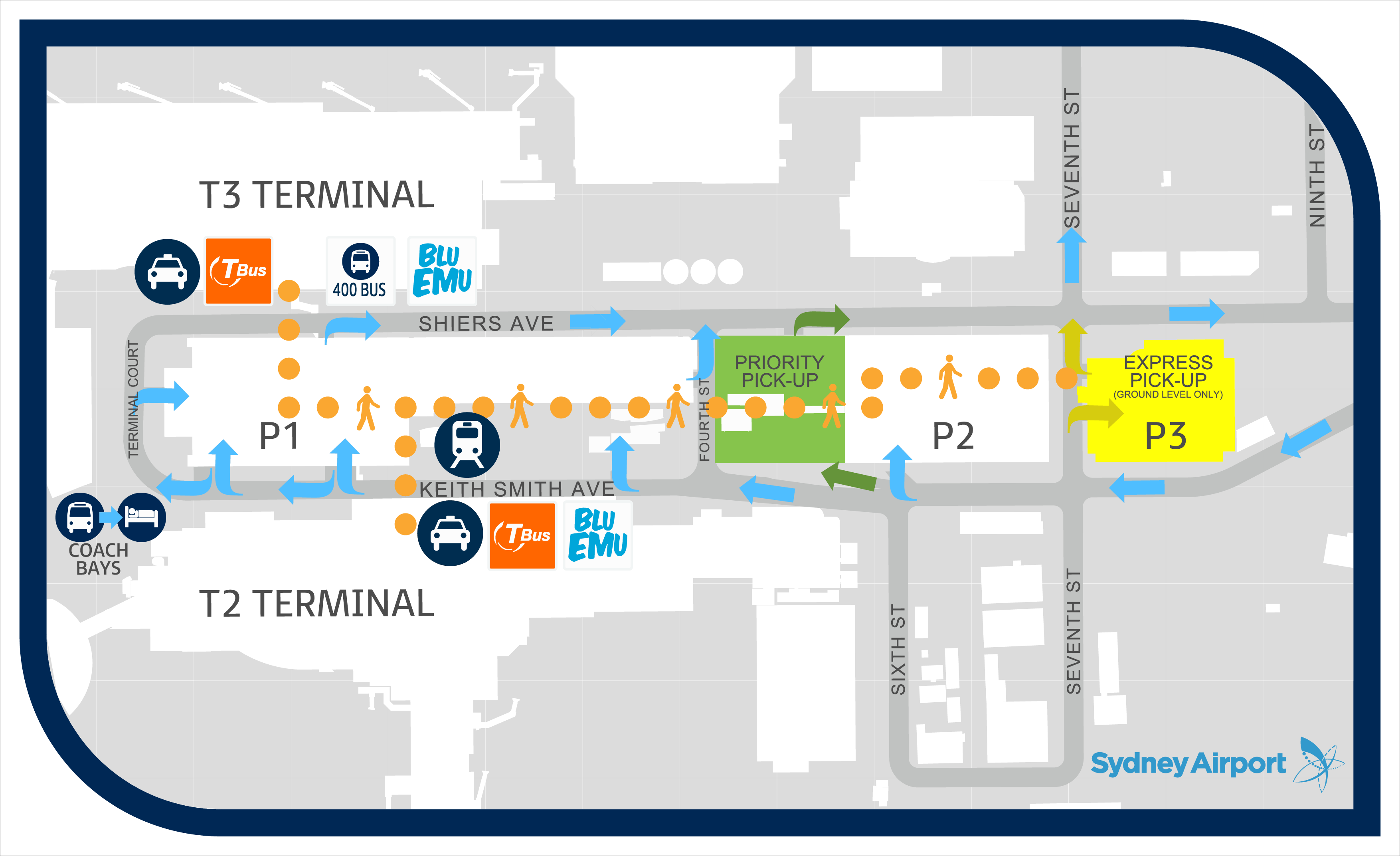 terminal 2 sydney domestic airport map Sydney Airport Parking From 13 Day At Mascot Air Travel Parking terminal 2 sydney domestic airport map